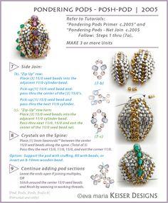 Eva Maria Keiser Designs: Keiser Designs Tutorials: Pondering Pods | 2005 - Sampler