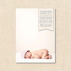 Banner Birth Announcement by blush printables, via Flickr