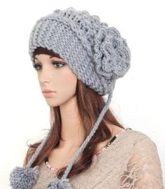 Gorro lana color gris (mujeres-jersey.com) 4fd9fcddae78