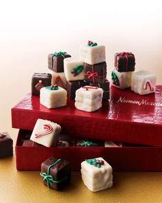 Shop 36 Gourmet Petit Fours at Horchow, where you'll find new lower shipping on hundreds of home furnishings and gifts. Christmas Treats, Christmas Baking, Holiday Treats, Christmas Cookies, Holiday Recipes, Xmas Food, Merry Christmas, Mini Cakes, Cupcake Cakes