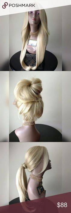 """ASH BLONDE LACE FRONT WIG """"BLEND""""  FLOWY ASH BLONDE BEAUTY APPROX.24-26 INCHES TAKES HEAT CAN BE PUT IN HIGH PONYTAIL , BUN ETC. CAN BE WASHED & RESTYLED NO TANGLING NO MATTING BRAND NEW  🎁I DO NOT TRADE AT ALL #NEVER 🎁NOT ACCEPTING OFFERS 🎁NO HOLDS 🎁PRICE IS FIRM 👑ACTUAL PHOTOS OF MY PRODUCT & MY WORK NO SCREENSHOTS NO STOCK PHOTOS  📣I DO NOT TRADE📣  💌SHIPPING POLICY :SAME DAY SHIPPING IF PURCHASED BEFORE 12PM  DELIVERY TIME :2-3 BUSINESS DAYS Accessories Hair Accessories"""