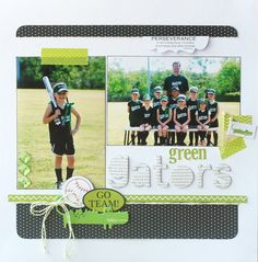 Cute layout for those team/individual pics that you get EVERY season with EVERY sport!!  LOL