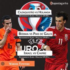 Sabado cheio de Euro 2016: A Holanda tenta sobreviver no Cazaquistão e o Pais de Gales de Bale tenta viver o sonho. Confiram os prognósticos ApostaGanha:  http://9nl.co/casaquistaovsholanda-nunofilipe http://9nl.co/bosniavspaisdegales-nunofilipe http://9nl.co/israelvschipre-jmrforuns http://9nl.co/israelvschipre-nunofilipe  #euro #euro2016 #gales #holanda #apostas #futebol #israel #chipre