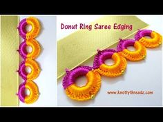 bridal jewelry for the radiant bride Crochet Ring Patterns, Crochet Rings, Crochet Borders, Diy Crochet, Irish Crochet, Saree Tassels Designs, Saree Kuchu Designs, Blouse Designs, Donut Ring