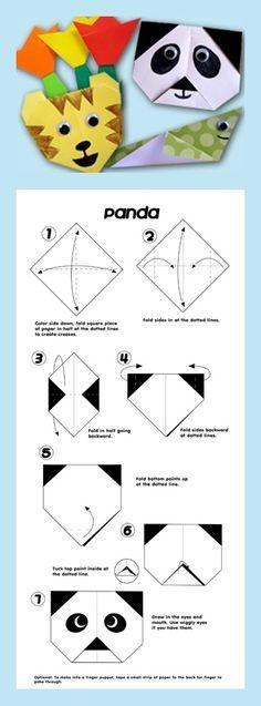 Origami Panda Head Diagram Avec Papier A Imprimer With Printing Paper