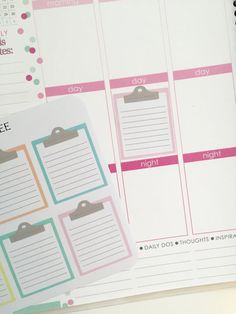 Clipboard Planner Stickers  To Do List  Full Box by NikkiPlusThree