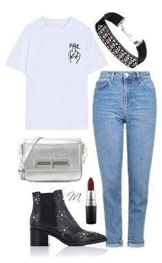 """Untitled #2650"" by moria801 ❤ liked on Polyvore featuring DANNIJO, Chicnova Fashion, Topshop, Valentino, CHARLES & KEITH and MAC Cosmetics"