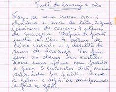 As Receitas da Avó Helena e da Avó Eduarda: Tarte de Laranja e Côco
