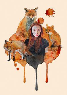 Foxes by Tani Mari
