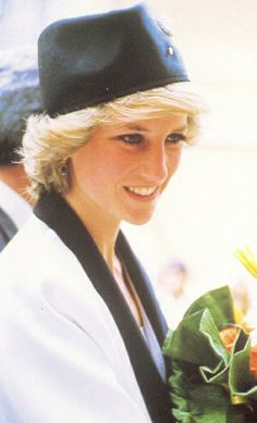 April 26, 1985: Princess Diana visiting a children's hospital, the Hospital of the Baby Jesus in Rome. Day 8.