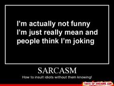 Sarcasm cool