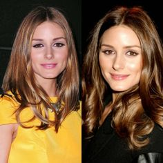 Olivia Palermo Light Brown vs Dark Brown Hair color for brown eyes.If you have eye blue you should know, not all hair color that will work for you.Best Hair Color idea For Blonde,Brunette,Red,Black With Blue Eyes.