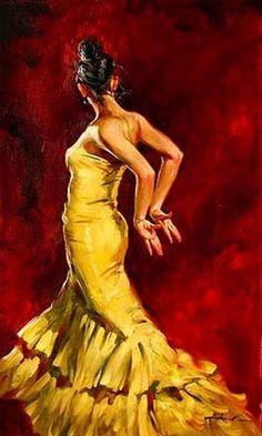 Flamenco dancer by (ANDREW ATROSHENKO)