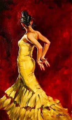 Flamenco dancer by ANDREW ATROSHENKO