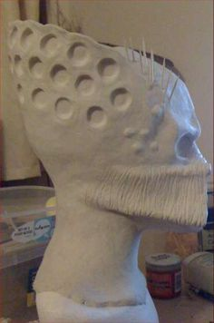 how to make a latex mask with 2 part mold