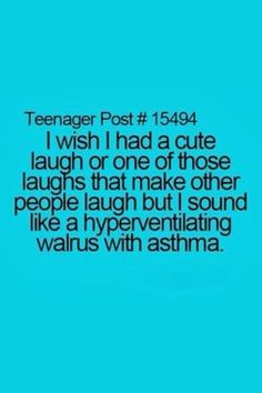 well i think my laugh does make other people laugh cause it is so retarded... ;)