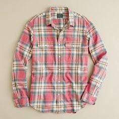Duluth Trading Co Men's Flapjack Flannel Shirt Jac - Deep Orange ...