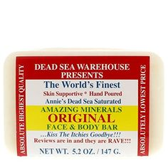 Dead Sea Warehouse  Amazing Minerals Original Face  Body Soap Bar A Skin Soothing Dead Sea Salt Soap Formulation 52 Ounces ** This is an Amazon Affiliate link. Continue to the product at the image link.