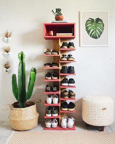 Shoe Rack Plan/Shoe Tower Plan/shoe shelf plan/shoe organizer plan/wood shoe rack plan/rustic shelf plan/boot rack plan/pdf pattern/wood pdf – The World Wood Shoe Rack, Diy Shoe Rack, Diy Shoe Organizer, Shoe Shelf Diy, Shoe Racks, Shoe Rack Tower, Shoe Shelves, Rack Design, Küchen Design