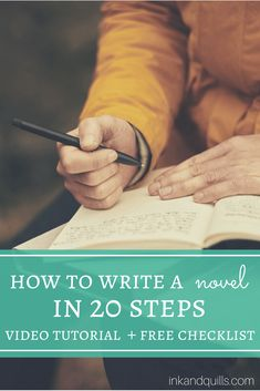 Want to write your first novel but don't know where to begin? Learn the step-by-step creative process behind writing a novel in this video tutorial! (Plus, there is most definitely a free checklist involved).