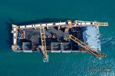 Coal terminal at open sea in Kalimantan Indonesia  #mining #kalimantan #shipping #indonesia #boat #ship #transport