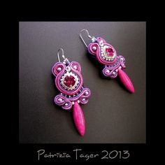 Hey, I found this really awesome Etsy listing at https://www.etsy.com/listing/125369444/fuchsia-buds-soutache-earrings-in-purple