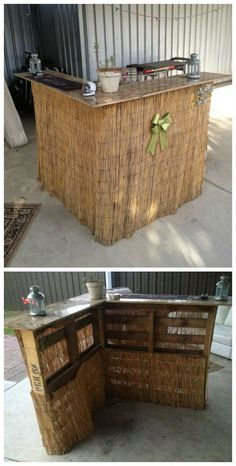 DIY Pallet Outdoor Bar and Stools | The Owner-Builder Network ...