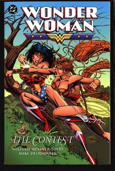 "DC Comics WONDER WOMAN ""The Contest"" Amazon ""Cat fight"" Messner-Loeb Mike Deodato Jr,William Moulton Marston, Graphic Novel Paperback Book"