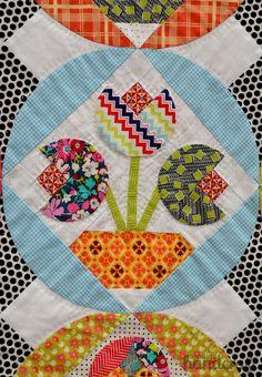 close up, quilt by Jen Kingwell Designs. Fall 2014 Quilt Market – photo by ModernHandcraft
