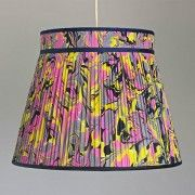 Amalfi Hand Marbled Knife Pleat Silk Lampshade by Whitehorn