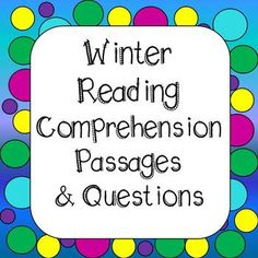 Reading Comprehension Passages and Questions - Winter Themed This resource includes 20 engaging reading comprehension passages. Students are asked to read a short passage, answer questions in COMPLETE SENTENCES using evidence from the text. This is great for