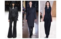 Tailoring ...Next winter will see girls stealing their boyfriends' suits, and quite possibly their fathers' as well as oversized and pin-striped versions hit the Fall/Winter 2013-2014 runways.............. From left to right: Yohji Yamamoto, Stella McCartney and Maison Martin Margiela Also seen at: Ralph Lauren,Vivienne Westwood, Emanuel Ungaro