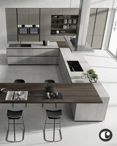 amazing luxury kitchens design ideas with modern style 1 « Home Design Luxury Kitchen Design, Kitchen Room Design, Luxury Kitchens, Home Decor Kitchen, Interior Design Kitchen, Kitchen Furniture, Home Kitchens, Kitchen Ideas, Cuisines Design