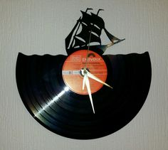 Vinyl Record Wall Clock Hand Made..