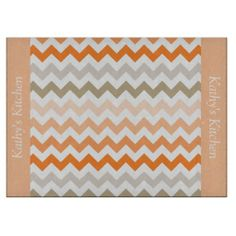 Seashell Chevron Glass Cutting Board ..............This design features a Seashell Chevron pattern. The TEXT on both sides (left and right) can be customized with your own name. Check out my store for more colors.