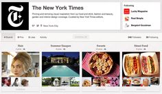 The New York Times is finally pinning on Pinterest. The newspaper claimed its Pinterest account several weeks ago, but it wasn't until about 18 hours ago that actual pins started appearing on the account's four boards (Hair, Summer Escapes, Sweets,and Street Food). Here are a few screengrabs of