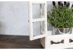 Chippy, Distressed Wood Cabinet, Chicken Wire, Metal Wire , White Wall Shelves, Distressed Wall Shelves, Cabinet Wall Shelves, White Cabinet Wall Shelves, Distressed, Rustic, Vintage. Antique, Farmhouse and Barnyard Decor, Home and Garden Decor, Wood, Woo