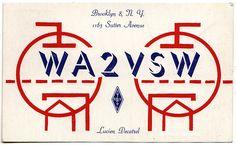 Brooklyn Flea Booty: CB Radio QSL Cards