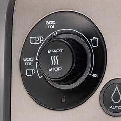Wassermenge und Temperatur einstellen - START!