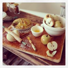 miniature apple pie preparation board by ankanka, via Flickr