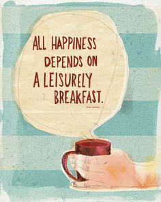 cup of coffee & breakfast foods