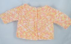Hand Knit Baby Cardigan - pinned by pin4etsy.com