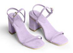 Rafa Vegan Suede Simple Sandal - Peony on Garmentory Pretty Shoes, Cute Shoes, Me Too Shoes, 90s Shoes, Shoes Heels, Zapatillas All Star, Look Fashion, Fashion Shoes, Simple Sandals