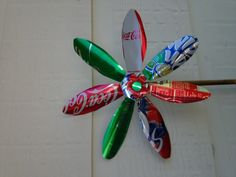 I made this pinwheel out of soda cans !! My first one. ;-)