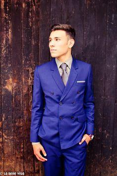 Blue suit | http://labellevita23.blogspot.com/2013/10/llewellyn-chante-matric-farewell.html
