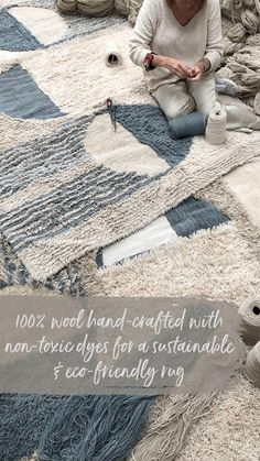 Discover the collection of luxuriously soft and cosy machine-washable wool rugs! Shop now at Rugs.ie Lorena Canals Rugs, Moroccan Design, Wool Rugs, Tribal Rug, Cosy, Hand Weaving, Area Rugs, Crochet Hats, Room Decor