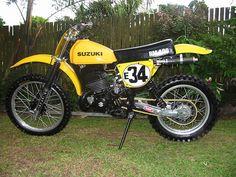 1978- Suzuki RM250C2 with aftermarket swingarm