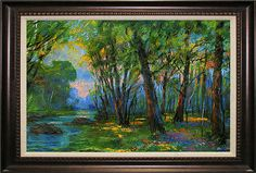 I like the spattering of spring flowers and the light. Artist: Michael Schofield; Title: The Woods; Description:   Mixed Media. From auction website www.invaluable.com