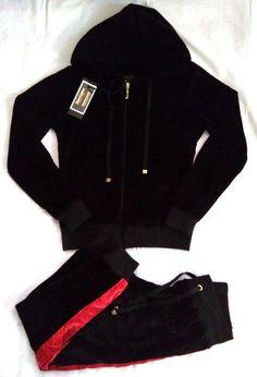 abd9facb98 New JUICY COUTURE Ladies Black Velvet Tracksuit Size S  fashion  clothing   shoes