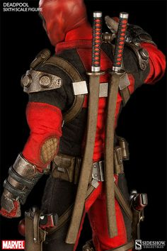 Here comes Deadpool! | Sideshow Collectibles 1/6 scale Deadpool with various weapons, hands, and accessories. I know I'm an adult but I can't even right now...